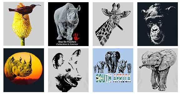 Africa Wildlife t-shirt designs