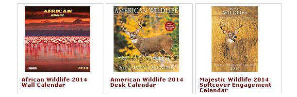 2014 Wildlife and Nature Calendars