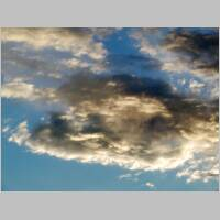 African sky with clouds