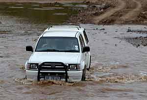 Crossing Limpopo at Ponts Drift