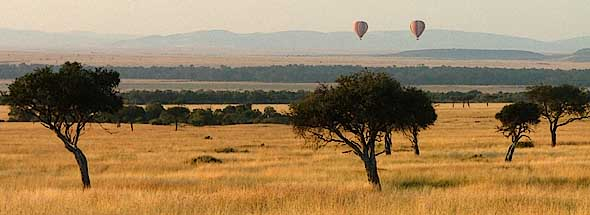 Hot-air ballooning over the Masai Mara