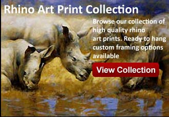 rhino art from wildlife pictures art gallery