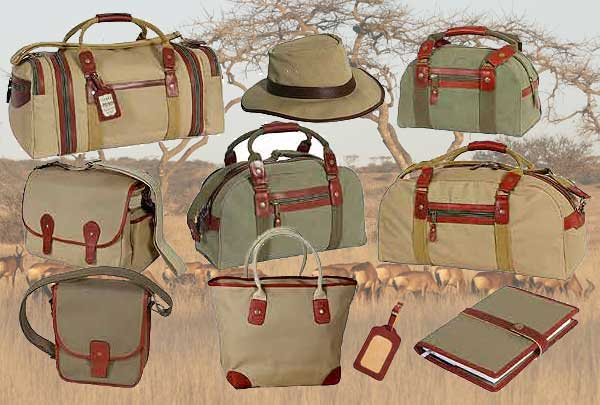 Canvas and leather luggage built for African safaris