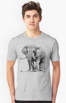 T-shirt with Bull elephant